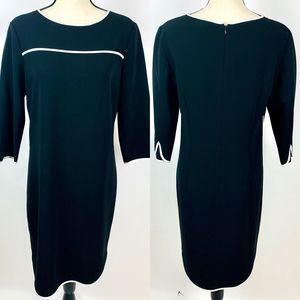 Brooks Brothers Black White Career Dress 8